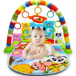 Education non-toxic soft baby play gym mat with keyboard piano