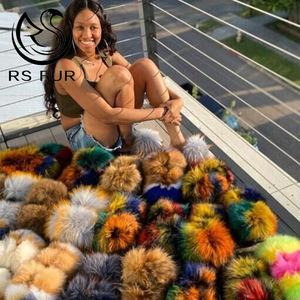 Factory hot sale ladies fur slides women fox PVC sole slippers for indoor