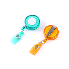 QORI Multifunctional Retractable Pull Key Ring Chain Reel ID Lanyard Name Tag Card Badge Holder Reel