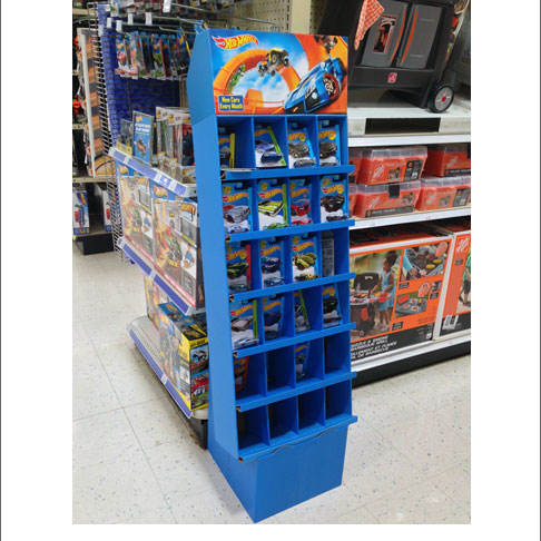 Merchandise custom advertising pop display cardboard wholesale toy store supermarket oem printed retail rack display stand