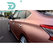 Highest quality series Rose Gold matte Metallic Vinyl Wrap Bubble Free For Car Styling High flexible and stretchable