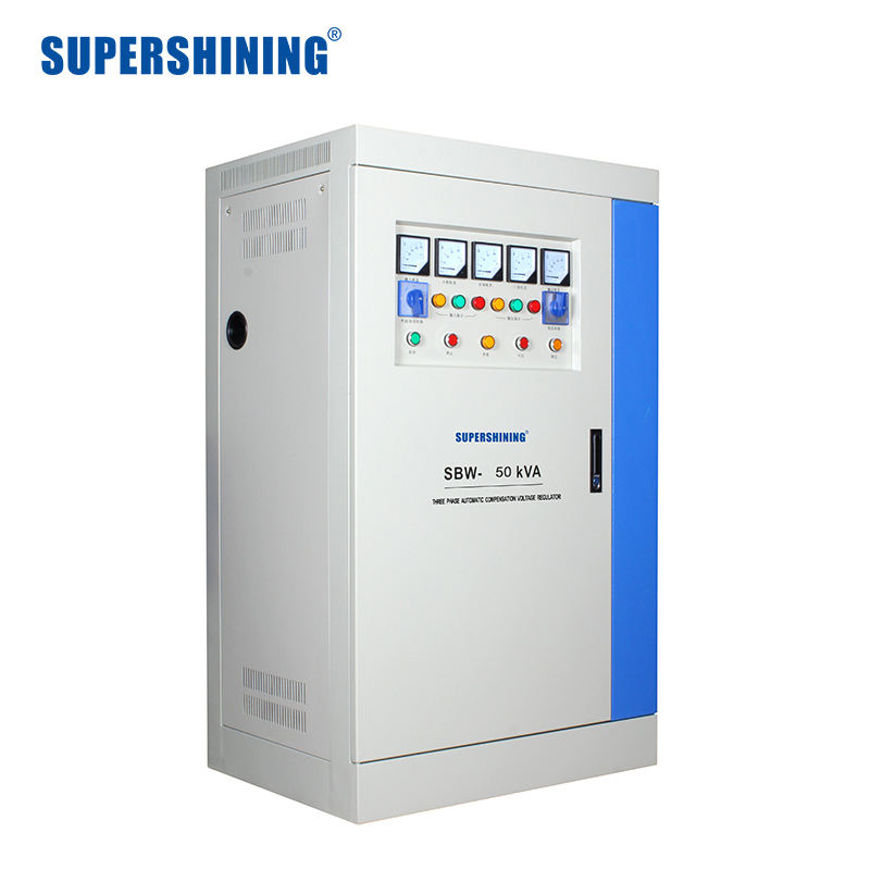 SBW -50KVA 3 Phase Voltage Stabilizer 80% Power Regulator Ac Kontrol Otomatis Stabilizer Lapangan Minyak Voltage Regulator