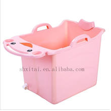 (Free Shipment by Sea) Baby foldable bathtub plastic child size bath tub baby folding portable bathtub