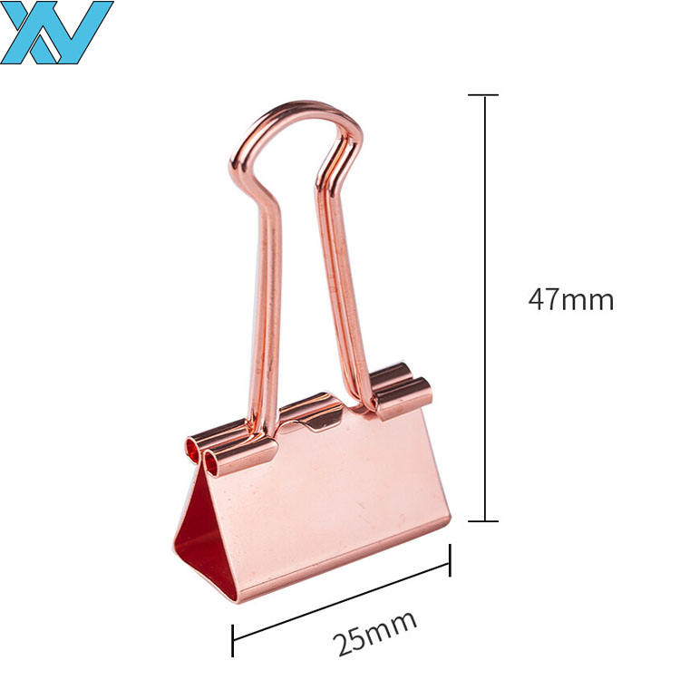 rose gold copper binder bulldog clips 25mm