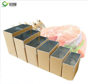 Frozen food packaging insulated ice cream cold food box cooling carton for transporting fish meat