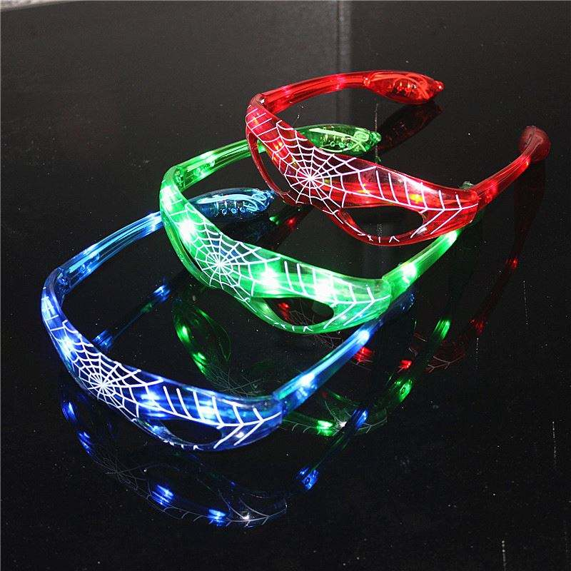Spiderman Glowing Glasses Flash Glasses For Festival Halloween Christmas Holiday Party and Dance Led Sun Glasses