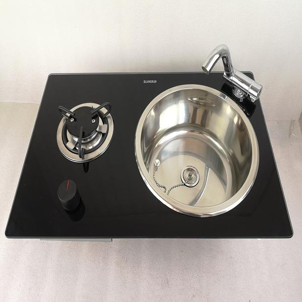 Boat Caravan RV Camper 1 Burner LPG Gas Stove Hob and Sink Combo 580*365*130mm GR-B213