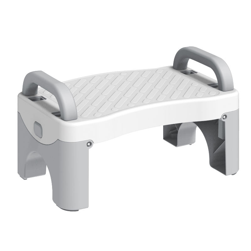 Plastic white and grey folding kids step stool