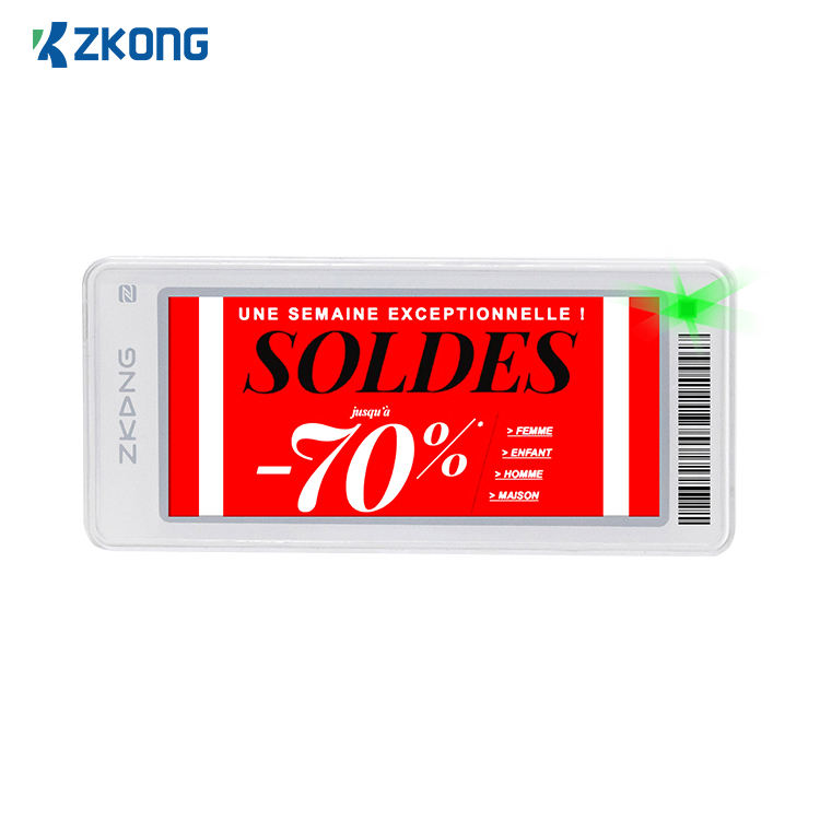 Zkong wholesale price tag promotion products e-paper display esl price tag for smart retail