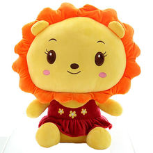 Factory supply wild animals plush lion custom made plush toy