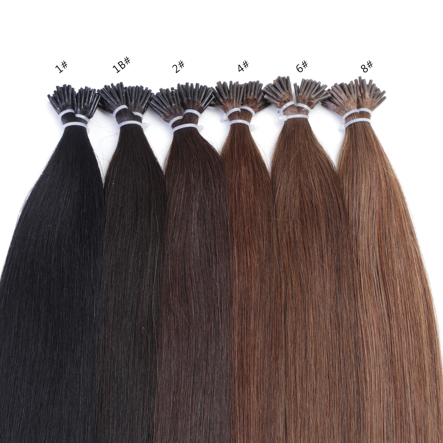 Neitsi 100%Human Hair Double Drawn Wholesale Italian Keratin U tip/Flat tip/I Tip Hair Extensions