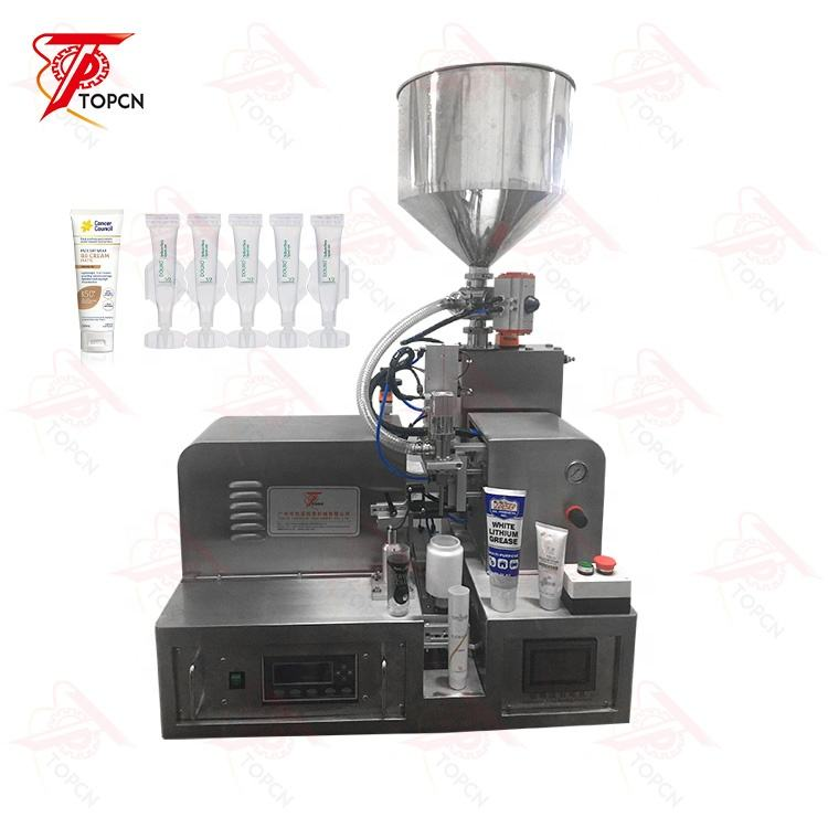 45L hopper cream and paste Cosmetic Plastic Soft Tube Hose Sealing desktop automatic ultrasonic tube filling machine
