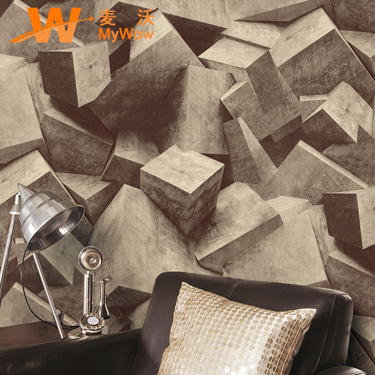 3d geometrical special style PVC Wallpaper