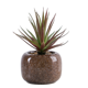 Cheap Price Lifelike Decorative Artificial Succulent Mini Plant in Kiln Glaze Ceramic Pot