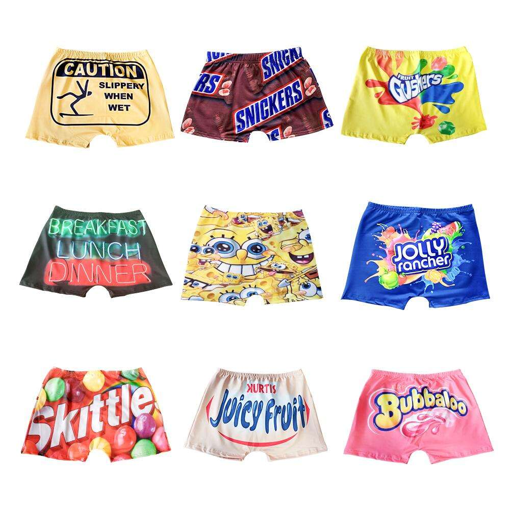 Wholesale Summer Sexy Custom Logo Letter Print Gym Biker Shorts Women Scrunch Snickers Candy Booty Lift Snack Shorts for Girls