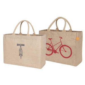 Gift Custom Logo Eco Reusable Cloth Carrying Bags Women Beach Hand Tote Laminated Grocery Promotional Shopping Handbags Jute Bag