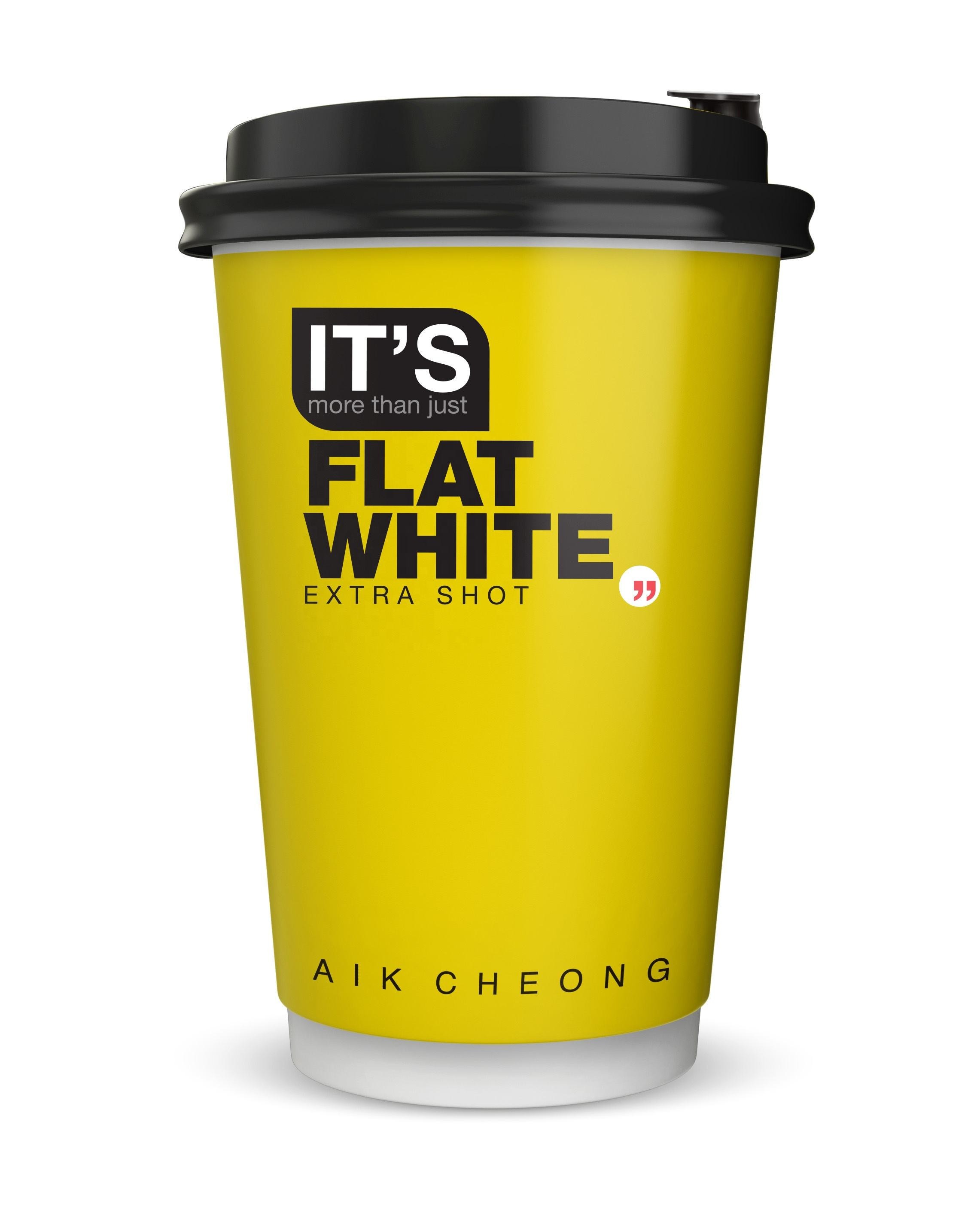 Aik Cheong Instant Coffee Flat White with Extra Shot Premix Drink (Its More Than Just) Malaysia (Grab & Go Cup)