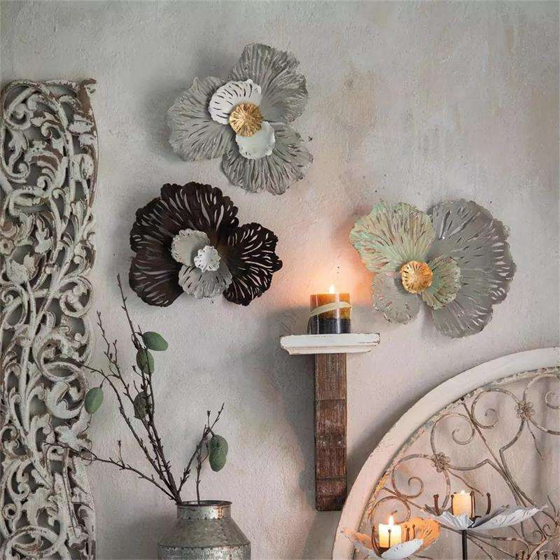 Home Decoratie Metalen Decor Items Muur Iron Art Bloemen Wandkleden