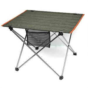 High quality outdoor BBQ table Olive green picnic table/folding table with side pocket