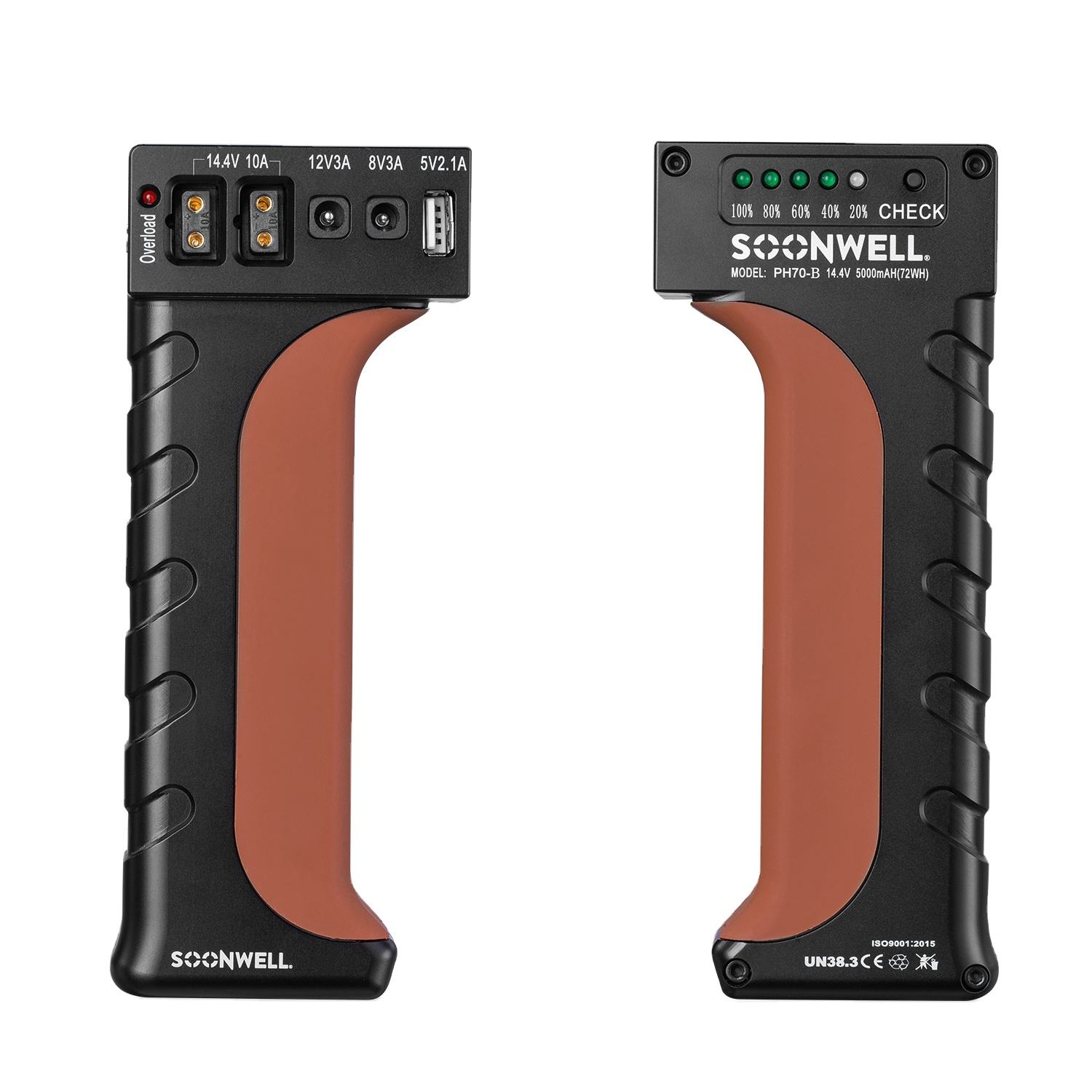 SOONWELL PH70 Kamera-Akku DSLR Backup Power Handle Grip für BMPCC-, Canon-und Nikon-Fotografie-Videokameras