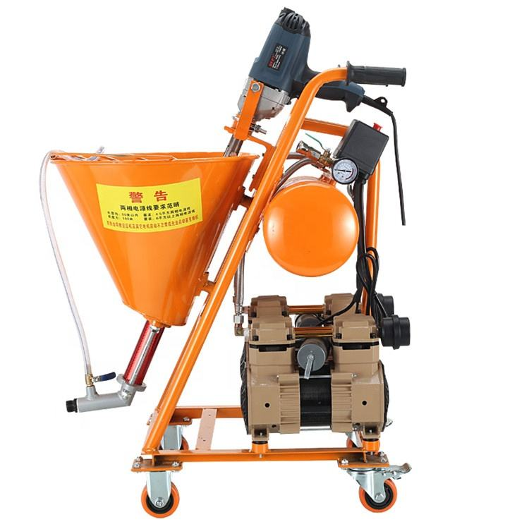 1500W air compressor automatic paint cement mortar putty spraying machine