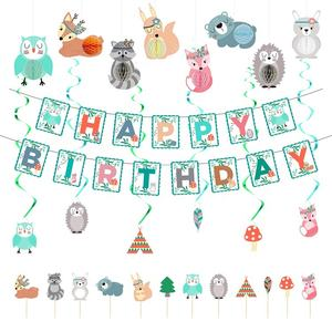 Umiss Paper Jungle Animals Theme Party Supplies For Kids, Fiestas, Holiday and Birthday Decoration Set.