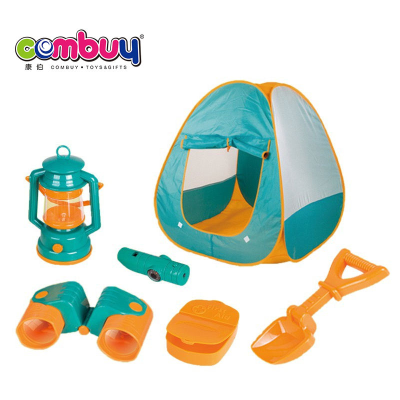 Toys play game outdoor house camping kids tent with tools