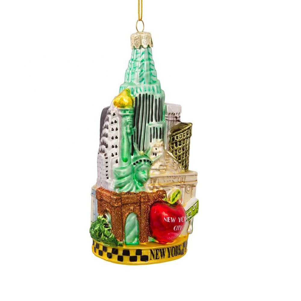 New products china city ornaments christmas ornaments decor tree decoration