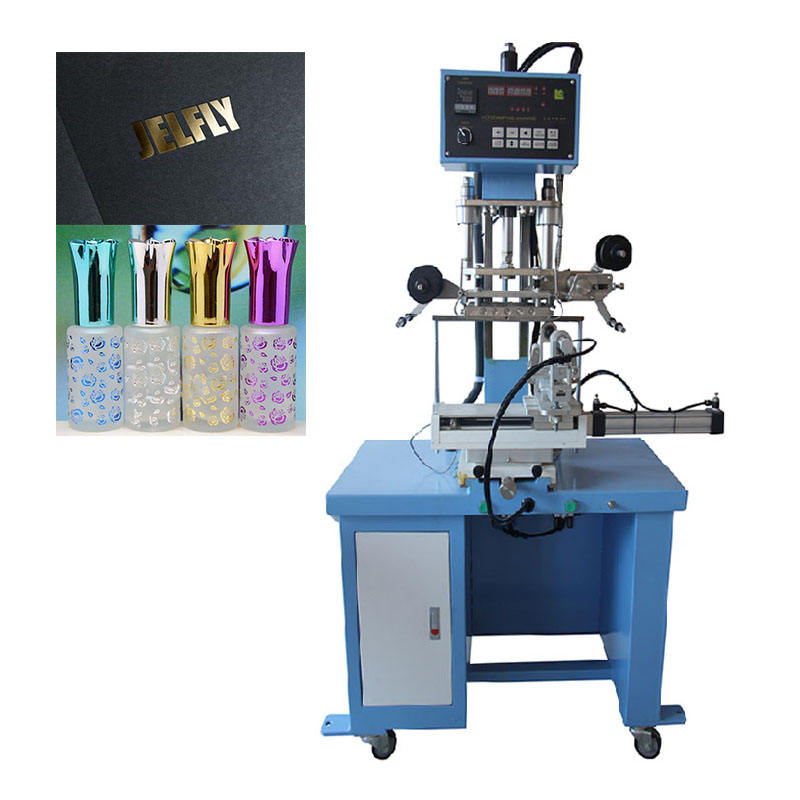 PVC PU Paper Logo Embossing Machine Leather Hot Foil Stamping Machine For glass bottle