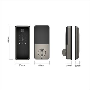 TT Lock Wifi Controlled Fingerprint Deadbolt Smart Keyless Door Lock with American Standard