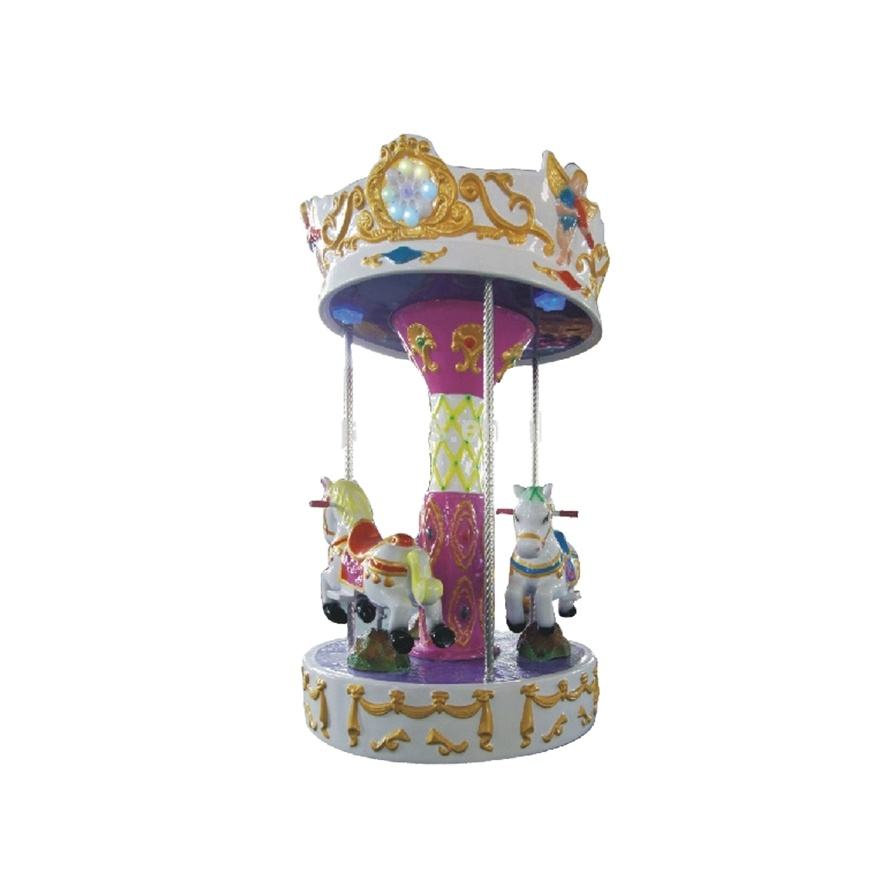 Amusement Park 3 player Horse Rides Kids Mini Carousel