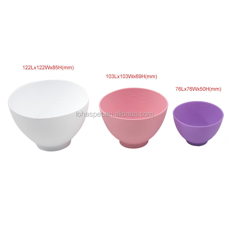 2021 New Arrival Makeup Brush Bowl Set 3 Pcs Silicone Bowl Facial Brush Bowl for Great Practical Value