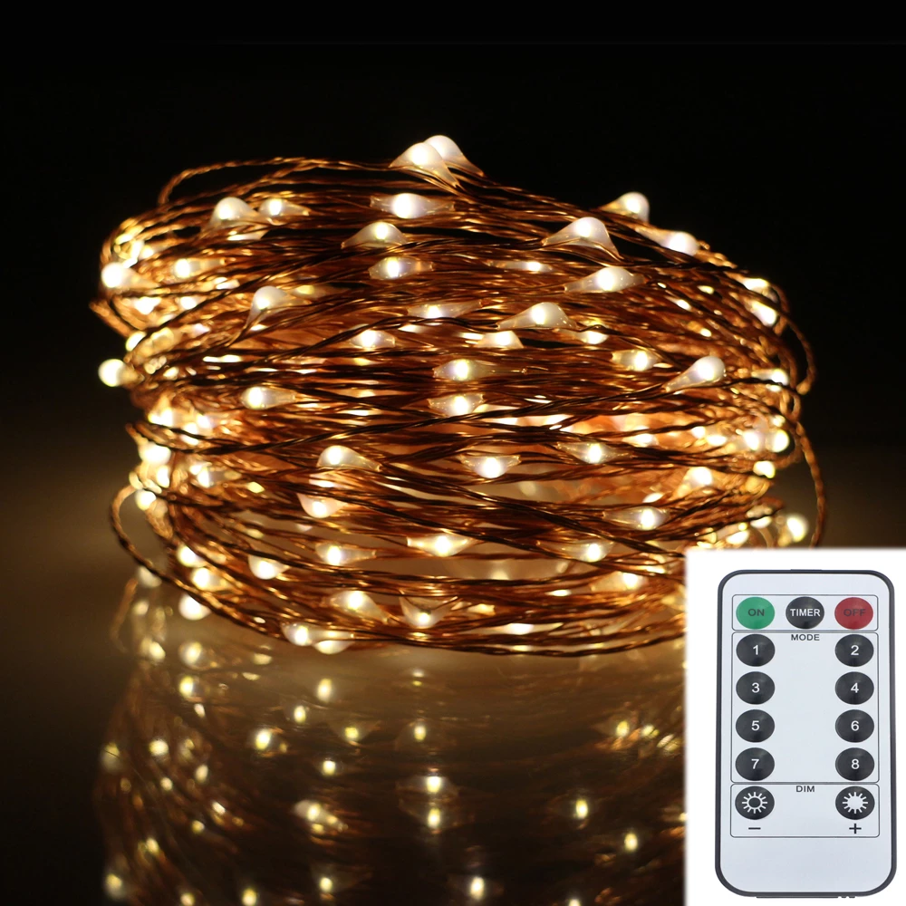 10M Led Fairy string light Waterproof Silver copper wire Line Xmas Christmas festival wedding decoration light