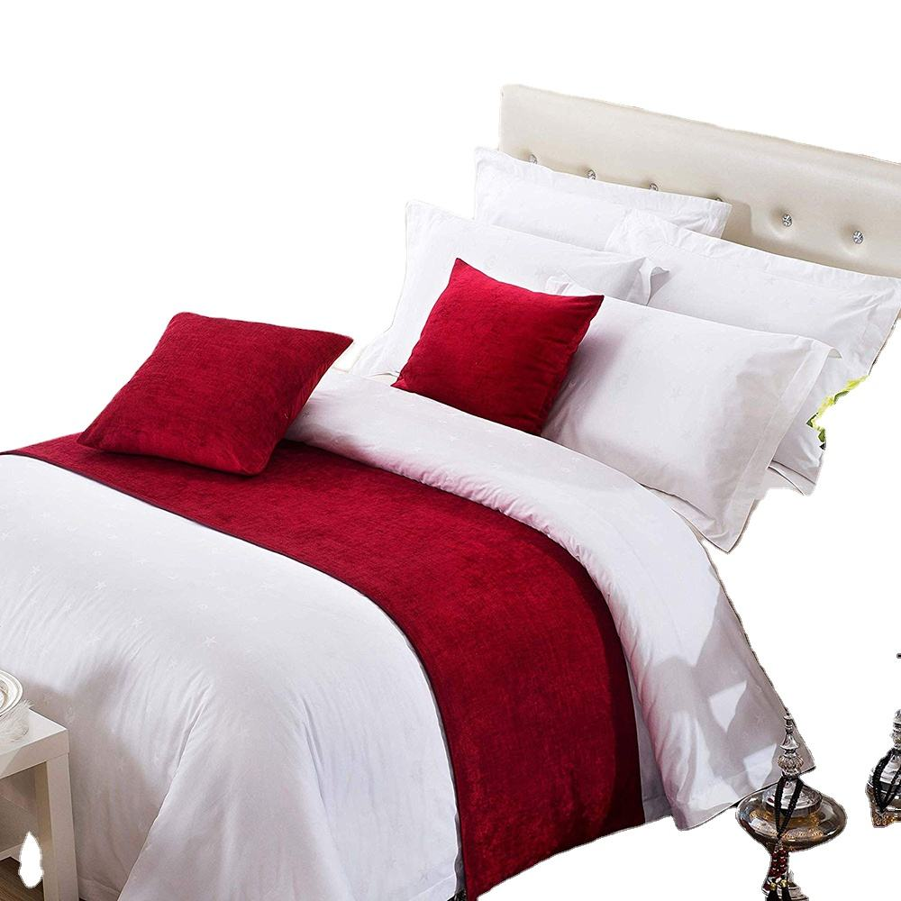 cotton hotel bed runner and cushion set