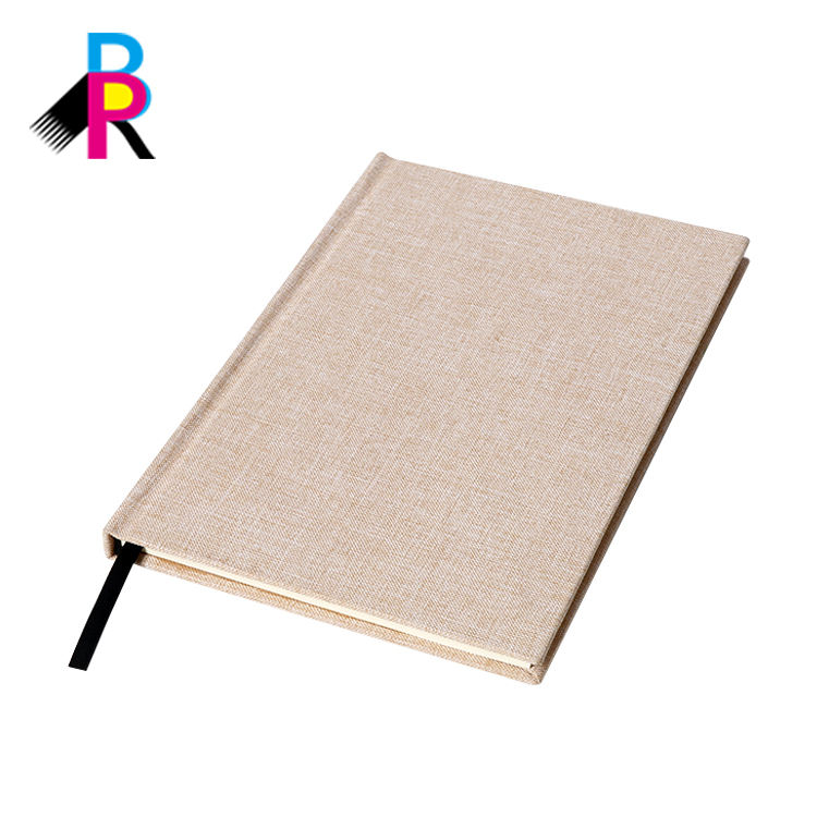 China Wholesale Custom Recycled Paper A5 Hardcover Fabric Book Cover Notebook Printing