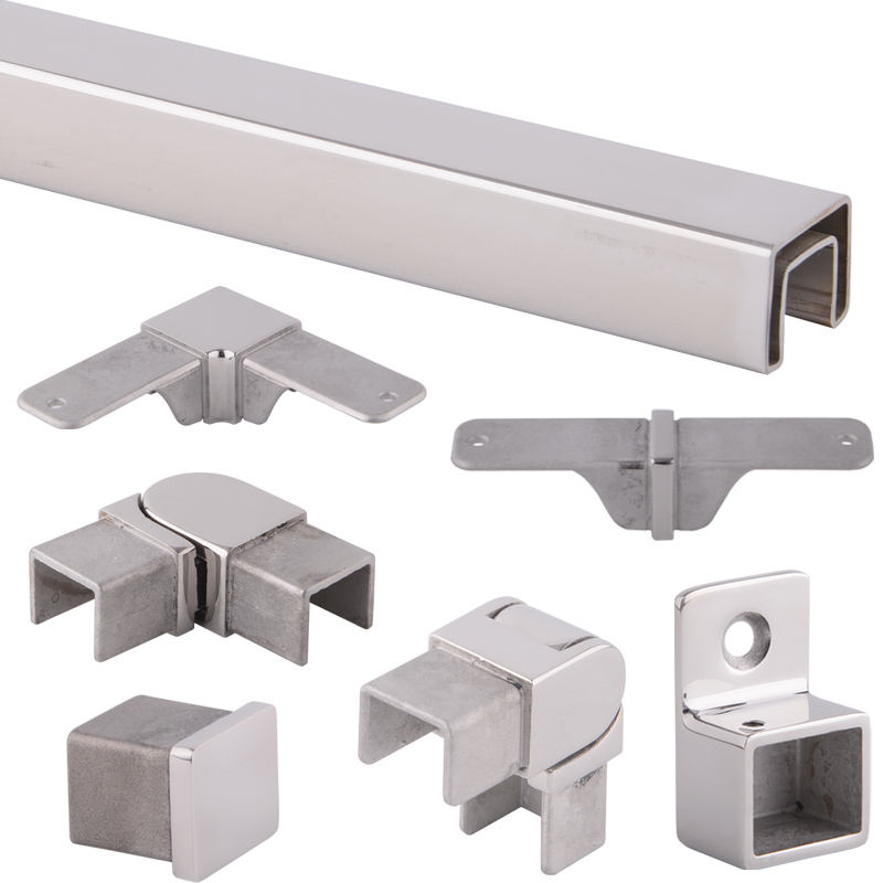 ZD Stainless Steel Glass Railing Top Handrail Capping Rail Accessories