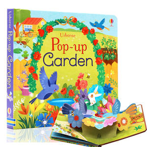 Custom Printing Pop Up Garden 3D Flap Picture Books English Education For Kids Children
