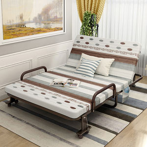 Promotional high quality multifunctional living room furniture metal frame folding double foldable sofa bed