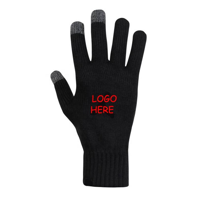 2018 wholesale touch screen gloves for winter custom knitted gloves