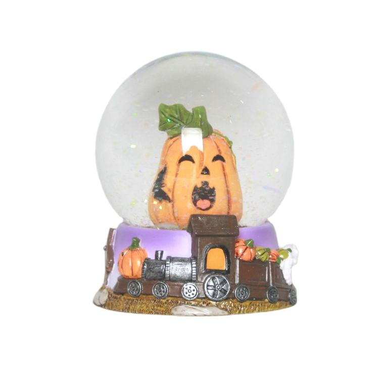 45MM Factory price halloween pumpkin snow globe