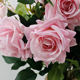 Artificial Flower Silk Rose, 68cm Real Touch Artificial Roses Flowers for DIY Wedding Party Home Decor (Pink & Other colors)