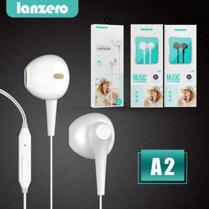 New White Jack da 3.5mm Cablata Controllo In-Ear Cuffia Auricolare Per Android IOS