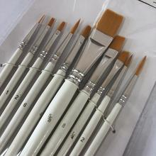 10Pcs Detail Paint Brushes Set Artist Paint Brushes Painting Supplies For Art
