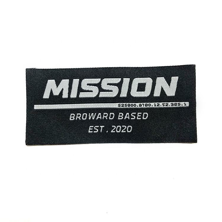 Wholesale Custom clothing labels tags High-density Woven Label For clothing