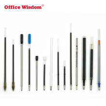 Office Wisdom ball pen ink refill white black red blue gold color silver refill pen