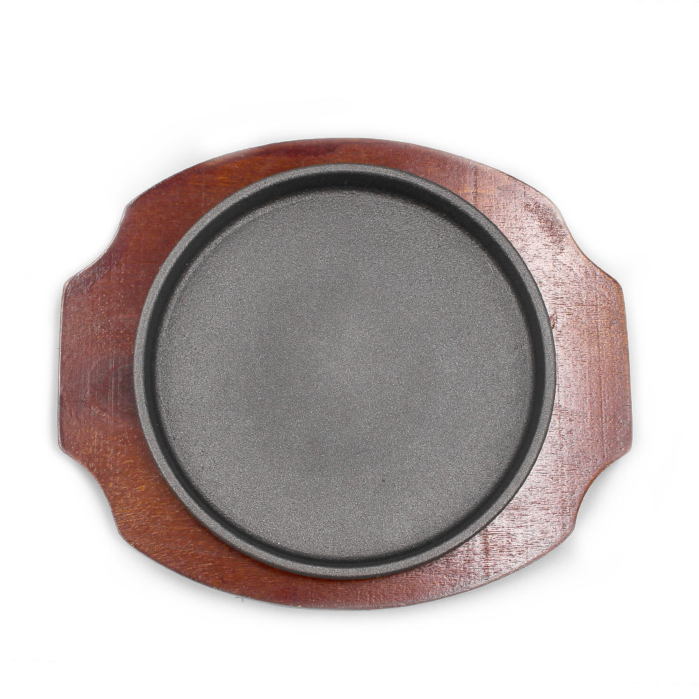 Fer plat barbecue barbecue plaque ronde