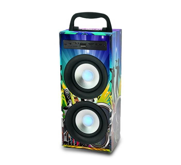 merison portable bluetooth home theatre system speaker with multimedia subwoofer audio player