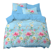 wholesale 120 gsm 100% polyester disperse printing flower design polyester printed fabric home textile fabric