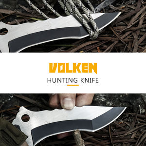 New hot sale outdoor army knife high hardness black non-slip G10 handle with key ring survival claw knife