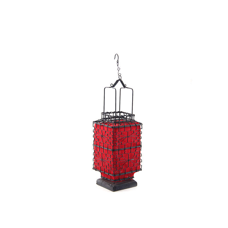 traditional chinese red silk lanterns